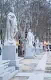Μαδρίτη - τα αγάλματα από Plaza de Oriente Στοκ εικόνα με δικαίωμα ελεύθερης χρήσης