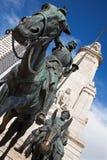 Μαδρίτη - φορέστε το άγαλμα Δον Κιχώτης και Sancho Panza από  Στοκ Φωτογραφία