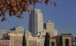 Μαδρίτη cityscap Στοκ φωτογραφίες με δικαίωμα ελεύθερης χρήσης