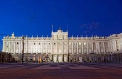 Μαδρίτη Royal Palace Στοκ φωτογραφία με δικαίωμα ελεύθερης χρήσης