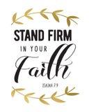 Μείνετε ανυποχώρητος στην πίστη σας ελεύθερη απεικόνιση δικαιώματος