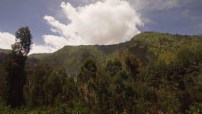 μεγάλα βουνά βουνών τοπίων Νησί Jawa, Ινδονησία Στοκ Φωτογραφία