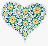 μεγάλα γεμισμένα mandalas καρδιώ& Στοκ φωτογραφία με δικαίωμα ελεύθερης χρήσης