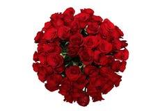 μεγάλα κόκκινα τριαντάφυλλα ανθοδεσμών Στοκ Φωτογραφία