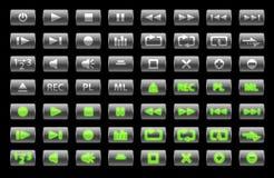 μεγάλα μέσα κουμπιών που &tau Στοκ εικόνες με δικαίωμα ελεύθερης χρήσης