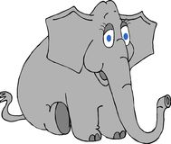 μεγάλα μπλε μάτια ελεφάντ&o απεικόνιση αποθεμάτων