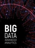 Μεγάλα οπτικά ενεργειακά fractals στοιχείων Δίκτυο τεχνολογίας infographic Σχέδιο analytics πληροφοριών επίσης corel σύρετε το δι διανυσματική απεικόνιση
