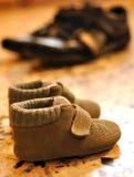μεγάλα παπούτσια μικρά Στοκ Φωτογραφία