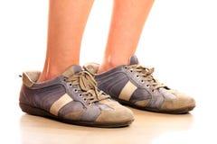 μεγάλα παπούτσια Στοκ εικόνες με δικαίωμα ελεύθερης χρήσης
