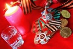Μεγάλα πατριωτικά πολεμικά μετάλλια Στοκ φωτογραφία με δικαίωμα ελεύθερης χρήσης