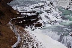 μεγάλα πιό στενά gullfoss Στοκ φωτογραφία με δικαίωμα ελεύθερης χρήσης
