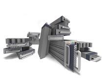 Μεγάλα στοιχεία κεντρικών υπολογιστών υπολογιστών Στοκ Εικόνες