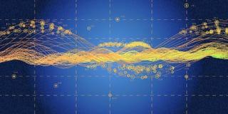 Μεγάλα στοιχεία Φουτουριστικός infographic Οπτικά στοιχεία γραφικά Περίληψη ελεύθερη απεικόνιση δικαιώματος
