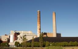 Μεγάλες εγκαταστάσεις παραγωγής ενέργειας Στοκ Εικόνα