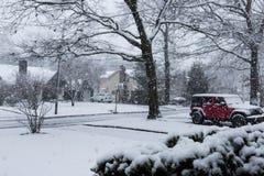 Μεγάλες νιφάδες χιονιού που πέφτουν την άνοιξη Στοκ εικόνα με δικαίωμα ελεύθερης χρήσης