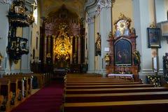 Μεγάλες παλαιές ιστορικές εκκλησίες στο Λιντς, Αυστρία στοκ φωτογραφίες με δικαίωμα ελεύθερης χρήσης