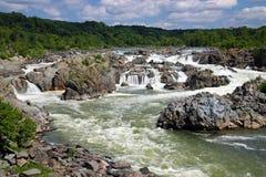 Μεγάλες πτώσεις στο Potomac ποταμό Στοκ Εικόνες
