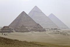 Μεγάλες πυραμίδες του giza Στοκ Φωτογραφίες