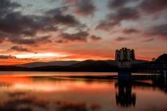 Μεγάλες φωτογραφίες του ηλιοβασιλέματος που χρησιμοποιείται στην τυπωμένη ύλη που διαφημίζει, ταξίδι στοκ φωτογραφίες