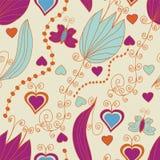 μεγάλες floral άνευ ραφής του&l Στοκ εικόνα με δικαίωμα ελεύθερης χρήσης