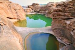 μεγάλες mekong πέτρες ποταμών Στοκ εικόνα με δικαίωμα ελεύθερης χρήσης