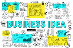 Μεγάλη έννοια ιδέας με το ύφος σχεδίου Doodle: εύρεση της λύσης, BR απεικόνιση αποθεμάτων