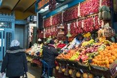 Μεγάλη αίθουσα Βουδαπέστη αγοράς στοκ εικόνες