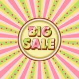 Μεγάλη απεικόνιση πώλησης Στοκ εικόνα με δικαίωμα ελεύθερης χρήσης