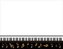 μεγάλη αφίσα πιάνων μουσι&kapp Στοκ Φωτογραφία