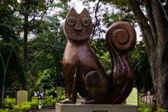 Μεγάλη γάτα του ξύλου στο πάρκο γατών στη Cali, Κολομβία Στοκ Εικόνες