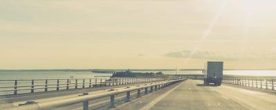 Μεγάλη γέφυρα ζωνών, Δανία στοκ εικόνα με δικαίωμα ελεύθερης χρήσης