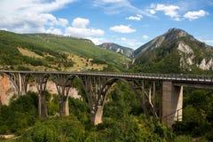 Μεγάλη γέφυρα στο Μαυροβούνιο πέρα από τον ποταμό Στοκ εικόνες με δικαίωμα ελεύθερης χρήσης