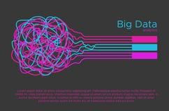 Μεγάλη διανυσματική απεικόνιση στοιχείων Αλγόριθμος εκμάθησης μηχανών για το φίλτρο πληροφοριών και anaytic στο επίπεδο ύφος dood Στοκ Εικόνες