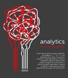 Μεγάλη διανυσματική απεικόνιση στοιχείων Αλγόριθμος εκμάθησης μηχανών για το φίλτρο πληροφοριών και anaytic στο επίπεδο ύφος dood Στοκ εικόνες με δικαίωμα ελεύθερης χρήσης