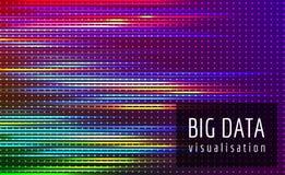 Μεγάλη διανυσματική σύνθετη απεικόνιση ροής στοιχείων Στοκ Εικόνα