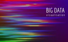 Μεγάλη διανυσματική σύνθετη απεικόνιση ροής στοιχείων Στοκ Εικόνες