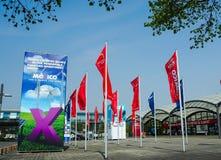 Μεγάλη διαφήμιση από τη χώρα συνεργατών Μεξικό στο Αννόβερο Messe στοκ εικόνες