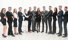Μεγάλη επιχειρησιακή ομάδα που απομονώνεται στο άσπρο υπόβαθρο Στοκ Φωτογραφίες