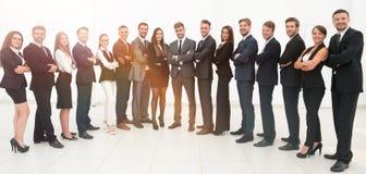 Μεγάλη επιχειρησιακή ομάδα που απομονώνεται στο άσπρο υπόβαθρο Στοκ Εικόνα
