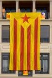 Μεγάλη καταλανική σημαία independentist στοκ φωτογραφίες