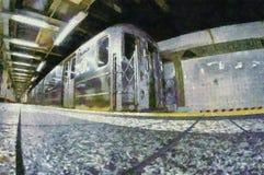 Μεγάλη κεντρική μιμούμενη υπόγειος ζωγραφική Στοκ Εικόνα