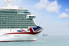Μεγάλη κρουαζιέρα Britannia P&O Company στοκ εικόνες με δικαίωμα ελεύθερης χρήσης