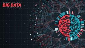 Μεγάλη κυκλική απεικόνιση στοιχείων Φουτουριστικός infographic Αισθητικό σχέδιο πληροφοριών Οπτική πολυπλοκότητα στοιχείων σύνθετ απεικόνιση αποθεμάτων