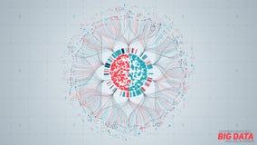 Μεγάλη κυκλική απεικόνιση στοιχείων Φουτουριστικός infographic Αισθητικό σχέδιο πληροφοριών Οπτική πολυπλοκότητα στοιχείων σύνθετ ελεύθερη απεικόνιση δικαιώματος