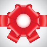 μεγάλη κόκκινη κορδέλλα &tau Στοκ φωτογραφία με δικαίωμα ελεύθερης χρήσης