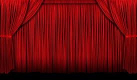 Μεγάλη κόκκινη κουρτίνα Στοκ φωτογραφία με δικαίωμα ελεύθερης χρήσης