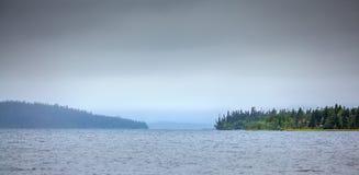 Μεγάλη λίμνη Imandra, χερσόνησος κόλα, Στοκ Εικόνες