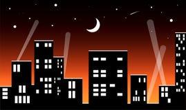 μεγάλη νύχτα πόλεων Στοκ Φωτογραφία