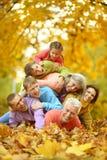 Μεγάλη οικογένεια που έχει τη διασκέδαση Στοκ Φωτογραφία