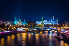 Μεγάλη πέτρινη γέφυρα, η Μόσχα Κρεμλίνο, Ρωσία Στοκ Φωτογραφία